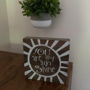 You Are My Sunshine Wooden Wall Decor